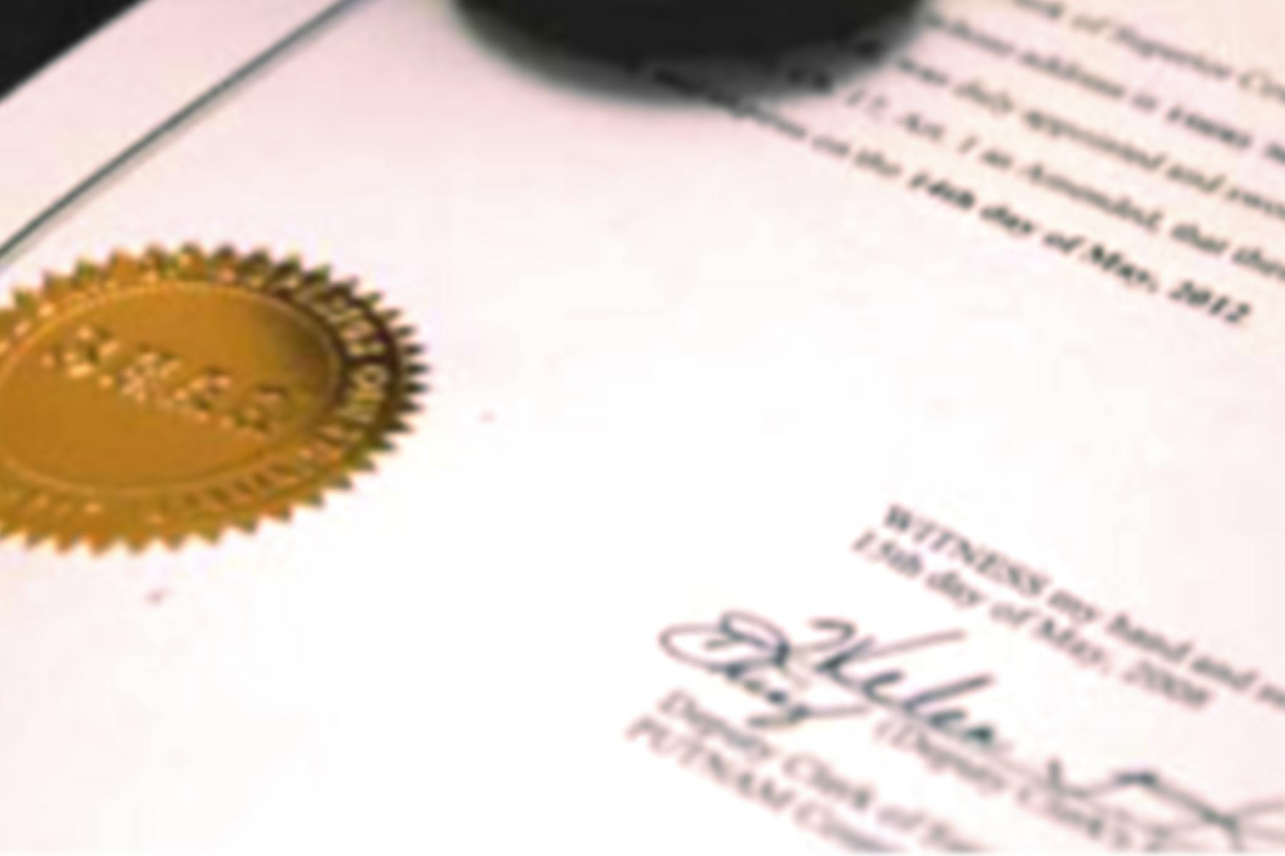 Legalizarea sigiliilor și a semnăturilor